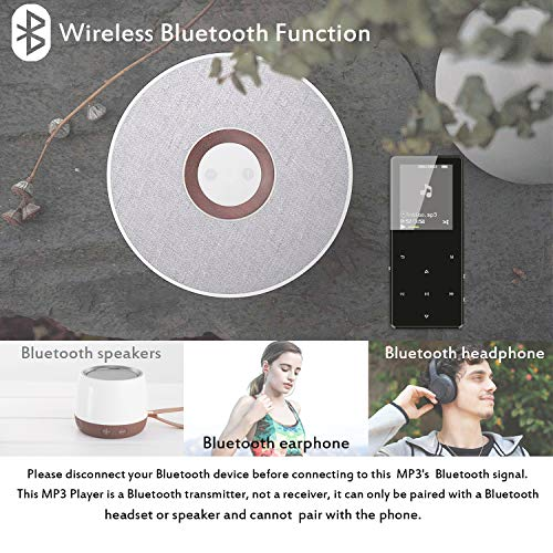 MP3 Player with Bluetooth 4.2, Fauna 32GB Portable Lossless Sound Metal Music Player with Internal Speaker, FM Radio Armband Pedometer Voice Recorder Touch Button, Support up to 128GB, Gift Packing by Lecoolife (Image #2)