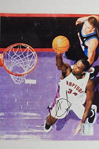 Charles Oakley Raptors Virginia Union Autographed NBA Signed 8x10 Photo - Raptor Oakley