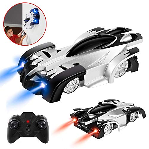 Gifts for 8+ Year Old Boys Joyjam Remote Control Car RC Wall Climbing Car Wall Stunt Climber Gravity Defy Racing Cars for Kids Toys for 8+ Year Old Boys Birthday Gifts PQC02 Black