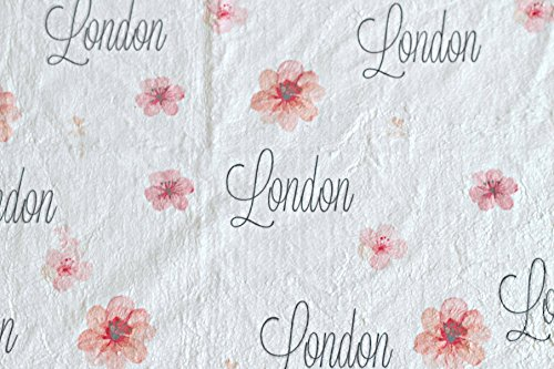 Personalized Baby Blanket (Floral), Custom Baby Blankets, Baby Boy Blankets Personalized, Swaddle Blanket, Personalized Baby Blankie Items, Lovie Blanket, Small Baby Blanket, Snuggle - Cute Baby With Specs