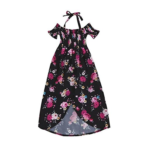 Vestidos para Madre E Hija Elegantes Vintage Moda Manga Corta Impresión Fiesta Dresses Señoras Floral Irregular Asimétrica Familia Fiesta Vestidos Largos ...