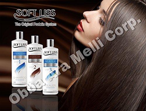 Keratin Brazilian Treatment kit 8oz Soft Liss Chocolate (Keratina de Chocolate) Hair Treatment Formaldehyde Free by by Soft Liss FREE SHIPPING