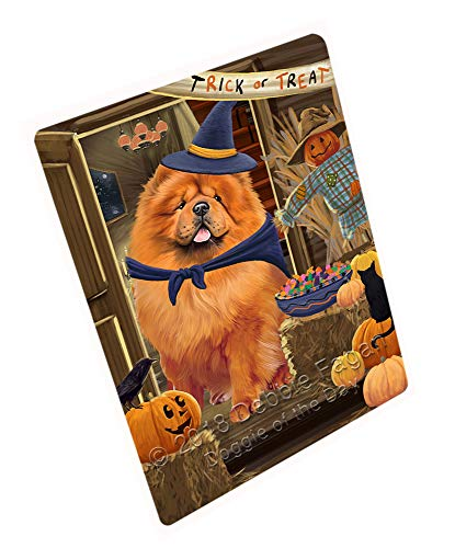 Enter at Own Risk Trick or Treat Halloween Chow Chow Dog Cutting Board C63696 (Large 16