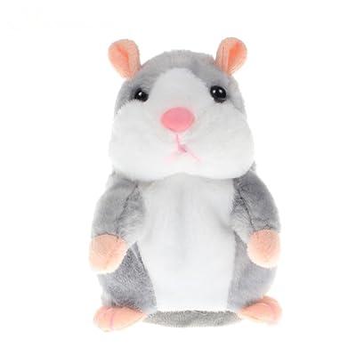 Owikar Talking Hamster Jouets en peluche électronique en peluche interactif jouet pour animaux domestiques répète CE que vous Dites Drôles enfants Jouets en peluche Cadeau spécial pour gar&cc