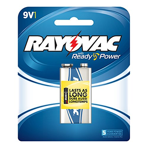RAYOVAC A1604-1F Alkaline Batteries (9V, Single)