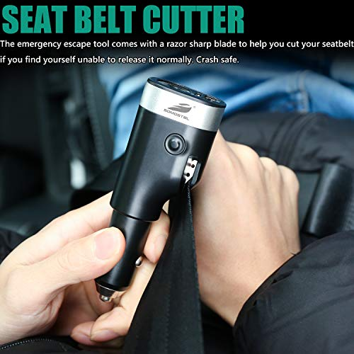 Car Phone Charger Adapter,SOMOSTEL Emergency Escape Tool