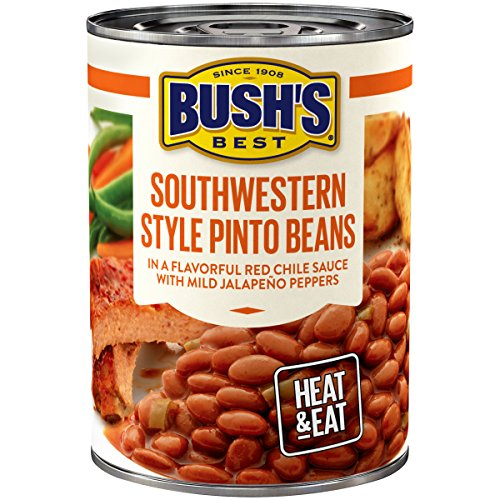 BUSH'S BEST Southwestern Style Pinto Savory Beans, 15.4 Ounce Can (Pack of 12) (Best Canned Pinto Beans Recipe)
