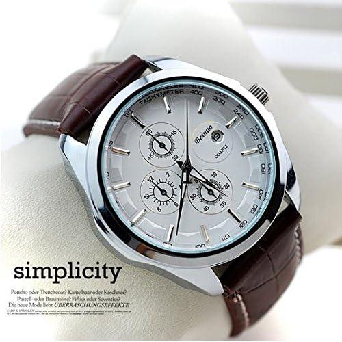 Relojes de Hombre Fashion Watches Luxury Brand Quartz Leather Strap De Hombre Para Hombre RE0011