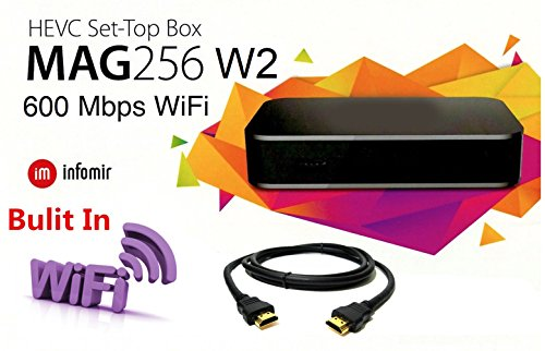 - MAG 256 W2 Media Player (HEVC H.265) With Built-In 600Mbps 2.4G/5G Wi-Fi & HDMI Cable (much faster than MAG 254)