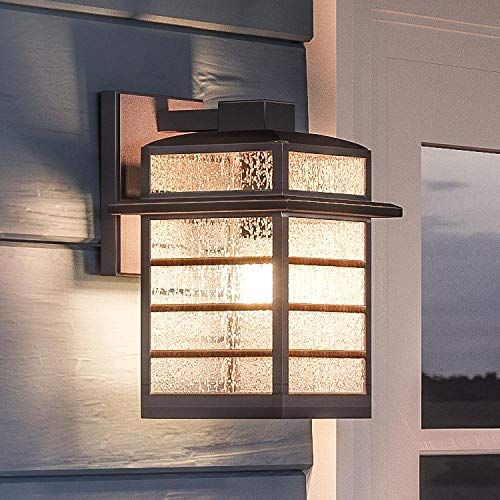 - Luxury Craftsman Outdoor Wall Light, Small Size: 11.5
