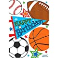 Amscan 371292 Sports Loot Bags Multicolor Party Supplies 8 3 4 X 6 Multi Color