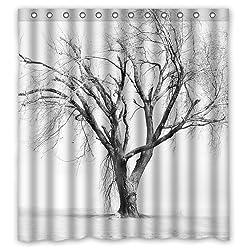 Custom Shower Curtain 66 x 72 Beautiful Tree of Life Pattern Waterproof