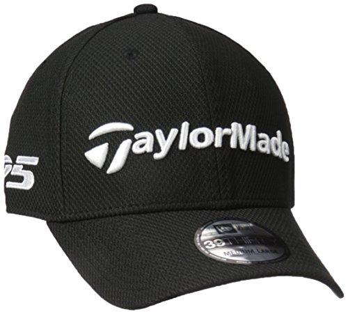 TaylorMade Golf 2017 tour new era 39thirty white hat black m/l
