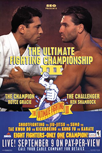 Pyramid America Official UFC 3 Royce Gracie Ken Shamrock for sale  Delivered anywhere in USA