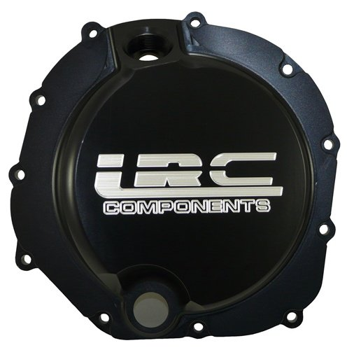 Yana Shiki A4300BLRC Black Solid Flat Style with LRC Engraved Clutch Cover for Kawasaki ZX-14R