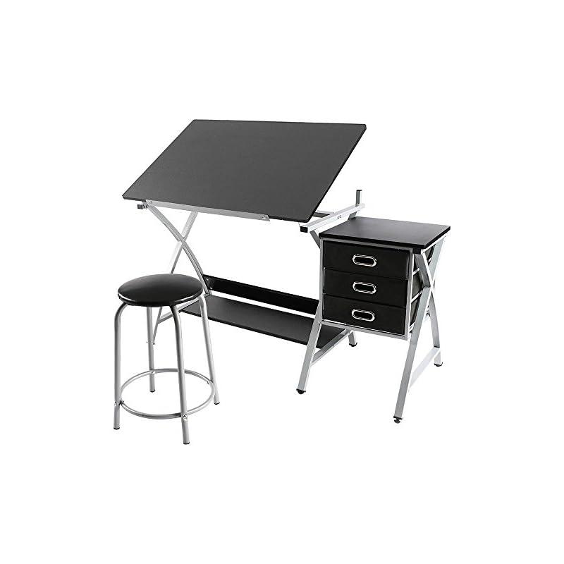 Yaheetech Adjustable Drafting Table Art
