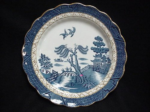Real Old Willow - BOOTH'S BREAD & BUTTER PLATE, REAL OLD WILLOW (GOLD TRIM) 6