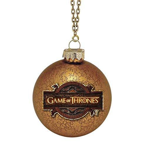 Kurt Adler Game of Thrones Glass Ball Ornament, 80mm]()