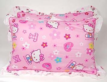 Amazon.com: hello kitty Juego de funda de almohada de par de ...