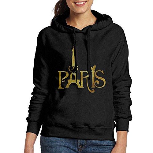 (Paris Retro Eiffel Tower Women's Hooded Sweatshirt)