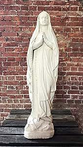 Mujer de Lourdes, H 70, Figura de piedra Figura, Jardín, terracota