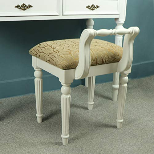 - European-Style Solid Wood Dressing Stool, Modern Simple Fabric Makeup Stool Shoe Bench for Living Room Bedroom-c 43x45x49cm(17x18x19inch)