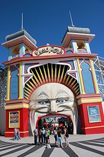 Entrance Park (Home Comforts LAMINATED POSTER Entertainment Luna Park Entrance Park St Kilda Poster 24x16 Adhesive Decal)