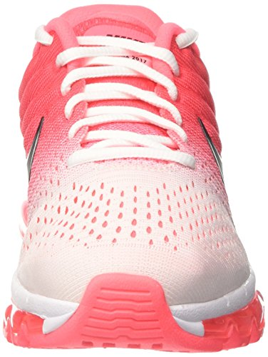 Nike Wmns Air Max 2017 - Zapatillas de Entrenamiento Mujer Rojo (White/black/hot Punch)