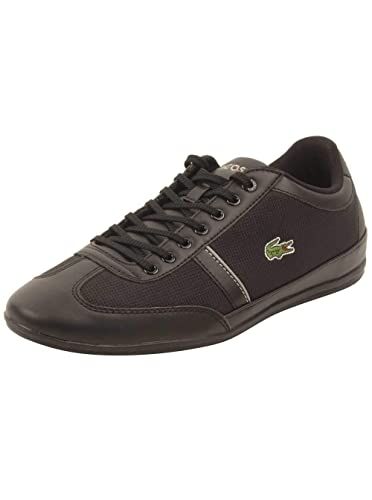 1625ee729f9bf2 Lacoste Misano Sport 318 1 Cam Mens Black Canvas Sneakers Shoes 9 ...