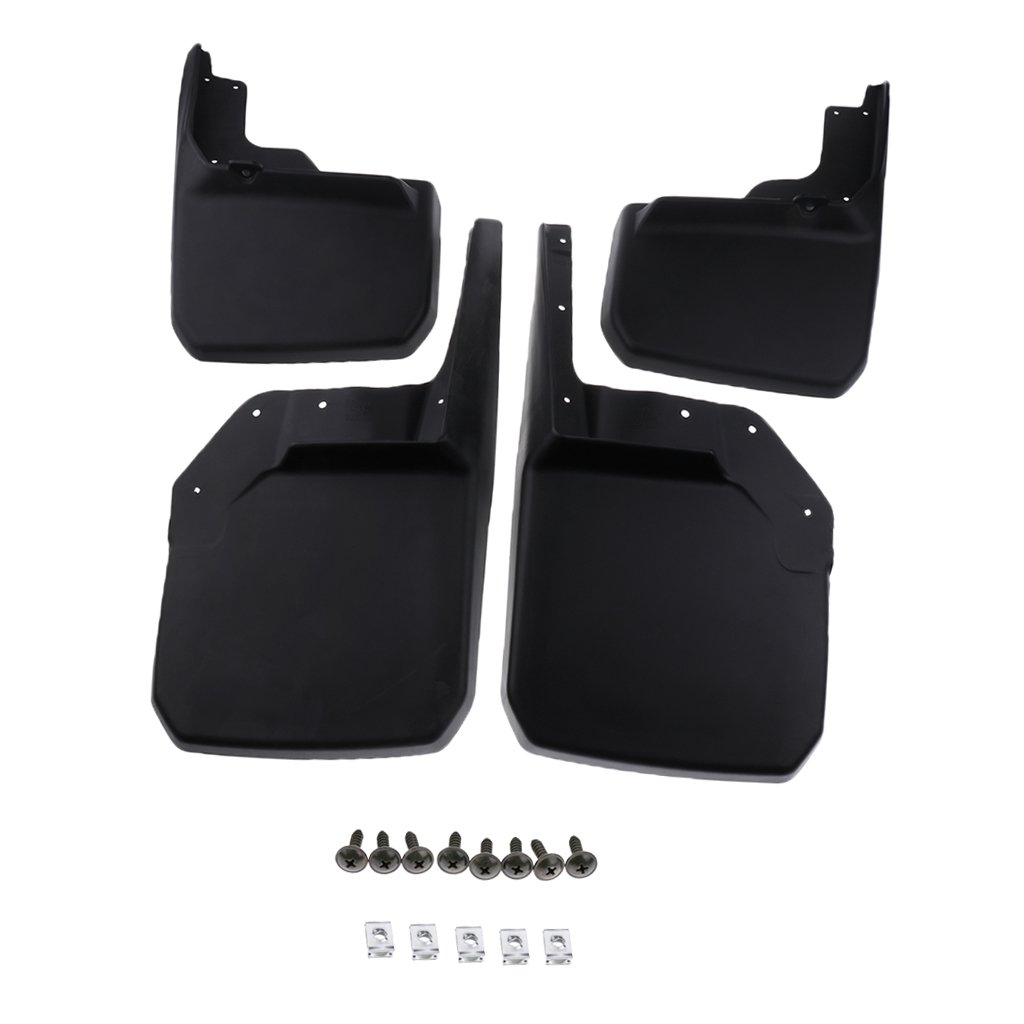 Shiwaki 2 Paar Car Splash Guards Vorne Hinten Kits F/ür Jeep JK JKU 2008 2017