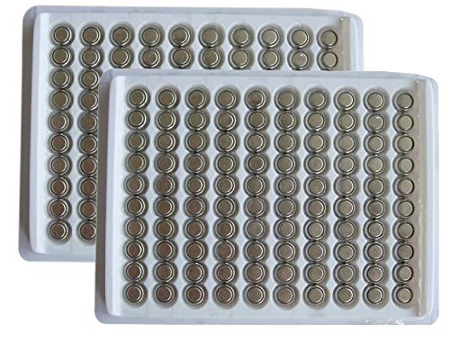 New 200 X Ag4 Lr626 377 Sr626Sw Button Cell Battery in Tray