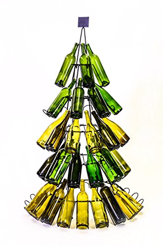 60 Bottle Christmas Tree Holiday Beverage Wine Rack (Rack Wine Tree Bottle)