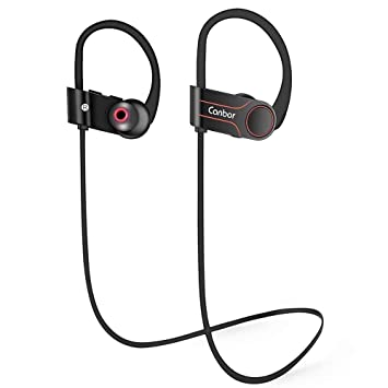 Canbor Auriculares Bluetooth Inalámbrico Auriculares Bluetooth 4.1 IPX7 Impermeable Deporte Auriculares con Micrófono Auriculares Estéreo para Gimnasio ...