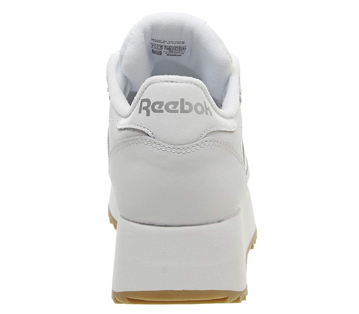 bfb88064856 Reebok Classic Leather Double Trainers White  Amazon.co.uk  Shoes   Bags