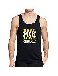 Teeburon REAL MEN LOVE Chihuahuas Tank Top