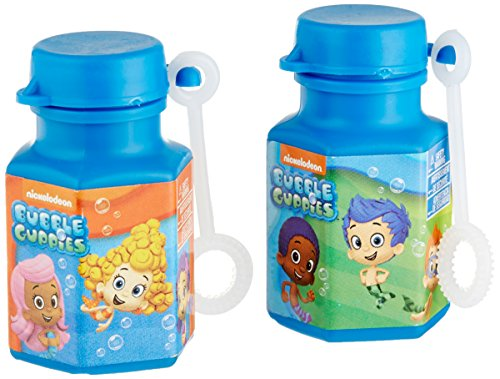 Aqua Awesome Bubble Guppies Party Mini Bubble Favours, Plastic, 0.6 (Bubble Guppies Party Decorations)