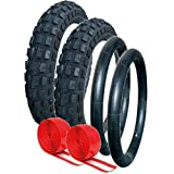 QUINNY BUZZ PUNCTURE PROTECTED TYRE AND TUBE SET OFF ROAD TREAD PATTERN by Raleigh (CST)
