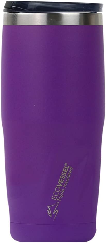 EcoVessel Metro TriMax Vacuum Insulated Stainless Steel Tumbler Cup/Coffee Travel Mug