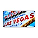 """Welcome to Las Vegas Metal License Plate Cover, Metal Car Tag - 11.8"""" x 6.1"""""""