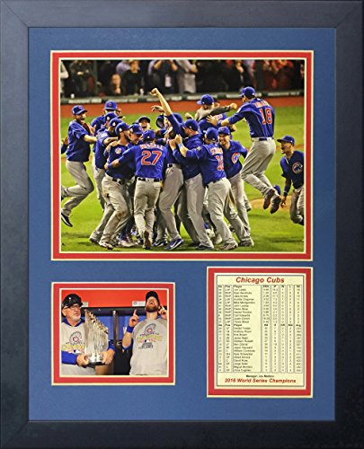 Legends Never Die 2016 MLB Chicago Cubs World Series Champions Celebration Framed Photo Collage, 11