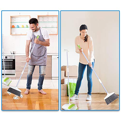 Broom and Dustpan Set with Long Extendable Handle-Wisp and Pet Hair Cleaning,Ideal Kitchen, Home Ourdoor Lobby Upright Broom and Dust pan Combo with Holder by Skizem (Image #2)