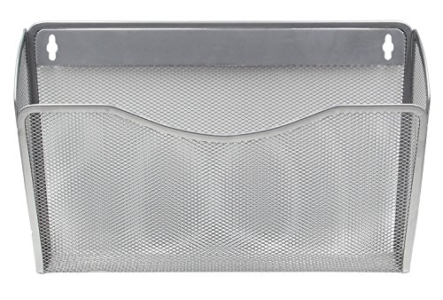 EasyPAG Mesh Collection Wall File Pocket Holder Organizer Metal for Office, 3 Pack,Silver by EasyPag (Image #3)'