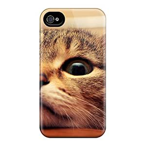 Ddo4438DoGf BretPrice Cute Cat Face Durable Iphone 4/4s pc Flexible Soft Case