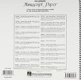 Wide Staff Wirebound Manuscript Paper (Aqua Cover)