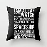 Decorative Square Pillow Case Cushion Cover 22X22 Inches Firefly Subway Poster