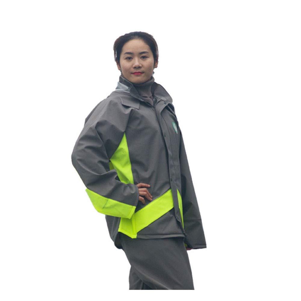 Vestiti da pioggia AINUO Impermeabile in Tessuto a Maglia Spessa Set Moto elettrica Auto Doppio Spessore Impermeabile Uomini e Donne Adulto Divisa assicurazione sul Lavoro Indumenti Impermeabili