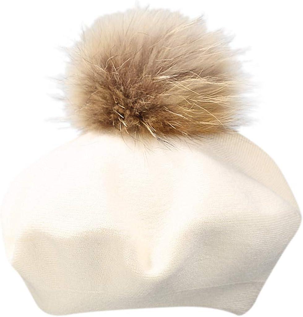 Fghyh Damenmode Baskenm/ütze Franz/ösisch Stil Maler Hut M/ütze Vintage Warm Party Top Hut