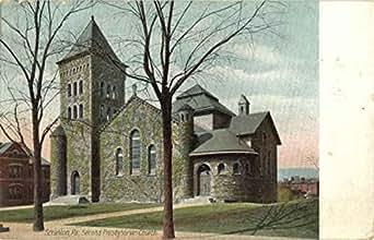 second presbyterian church scranton pennsylvania original vintage postcard. Black Bedroom Furniture Sets. Home Design Ideas