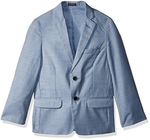(Calvin Klein Big Boys' Sharkskin Blazer Jacket, Medium Blue, 16 )