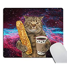 Smooffly Funny Cat Mousepad Non-Slip Rubber Gaming Mouse Pad Rectangle Mouse Pads for Computers Laptop Cat Desk…